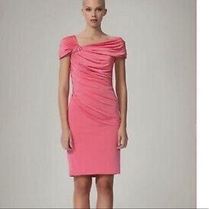 Tadashi Shoji Cantaloupe Asymmetric Jersey Dress